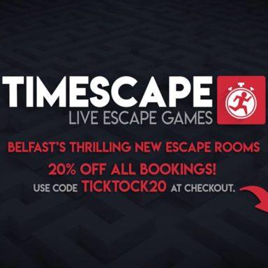 TIMESCAPE – LIVE ESCAPE GAMES 20% OFF ALL BOOKINGS