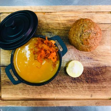 Havana   carrot and coriander with carot crisp
