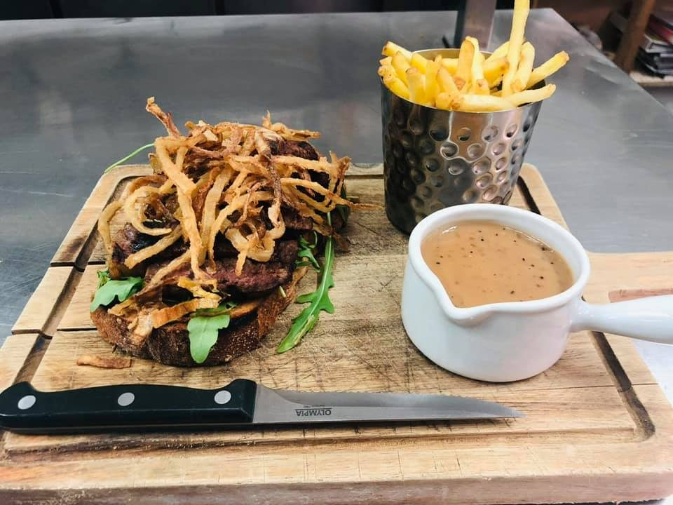 havana  Sirloin Steak sandwich with all the trimmings