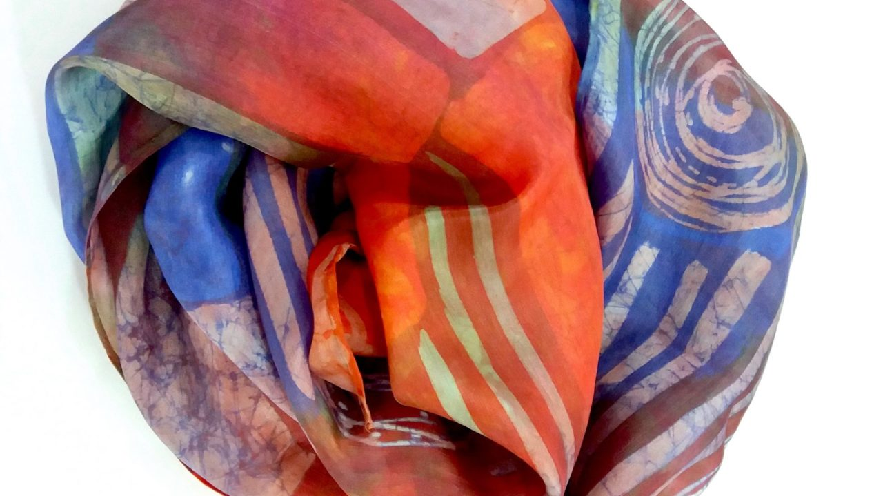 hand painted silk scarves by Margaret Jamison
