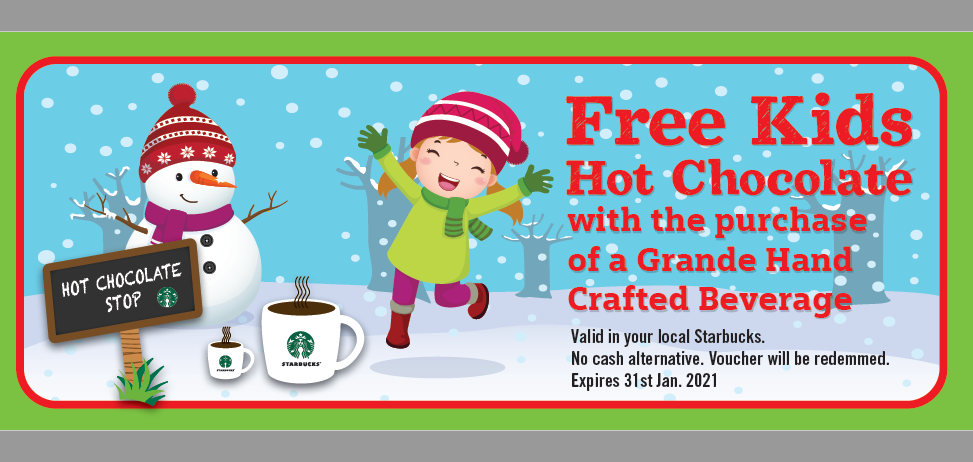 Starbucks Kids Voucher